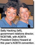 Sally Hacking and Debra Howard.