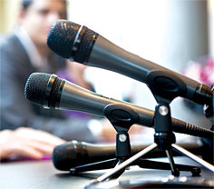 Microphones - Copyright – Stock Photo / Register Mark
