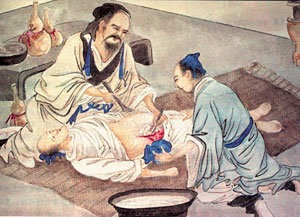 Hua Tuo performing surgery. - Copyright – Stock Photo / Register Mark