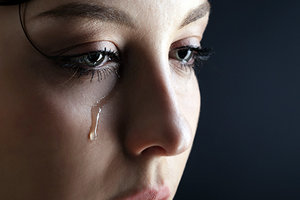 crying woman - Copyright – Stock Photo / Register Mark