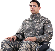 disabled solider - Copyright – Stock Photo / Register Mark