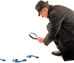 Finding Clues - Copyright – Stock Photo / Register Mark
