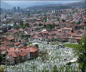 Sarajevo grave yard. - Copyright – Stock Photo / Register Mark