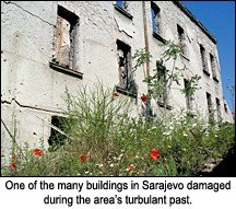 War damaged Sarajevo building. - Copyright – Stock Photo / Register Mark
