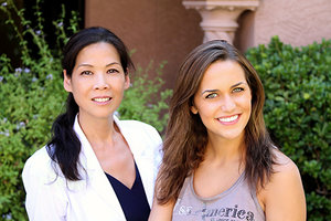 Dr. Jing Liu and Jennifer Smestad