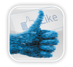Facebook like - Copyright – Stock Photo / Register Mark