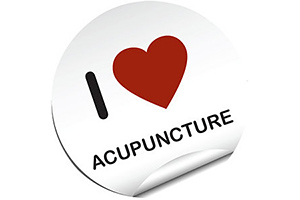 i love acupuncture sticker - Copyright – Stock Photo / Register Mark