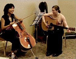 Janet Li and Abby Jones performing at the Gala Dinner. - Copyright – Stock Photo / Register Mark